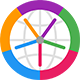 icône ou logo de l'application Horzono de Prosults Studio, avec lequel vous pouvez comparer les heures de jusqu'à huit emplacements sur le globe dans différents fuseaux horaires