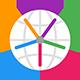 Icon oder Logo der Horzono App von Prosults Studio, mit dem man die Zeiten von bis zu acht Orten auf der Welt in verschiedenen Zeitzonen vergleichen kann